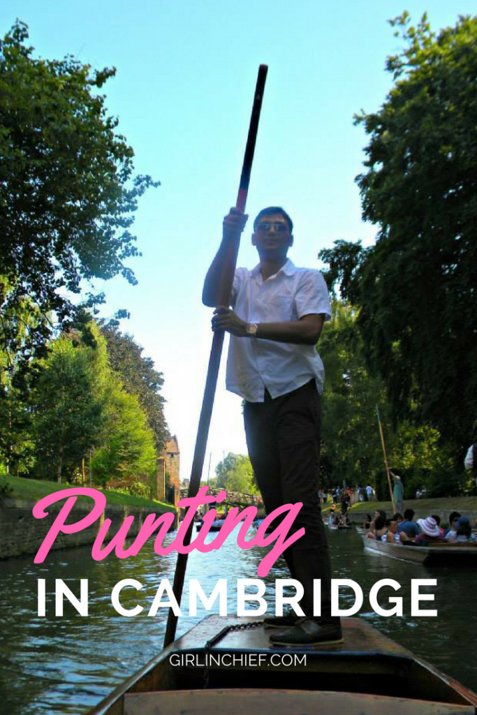 Must-do in Cambridge, UK: Punting in the River #cambridge #punting #thingstodo #england #weekendgetaway #daytripfromlondon #visitengland