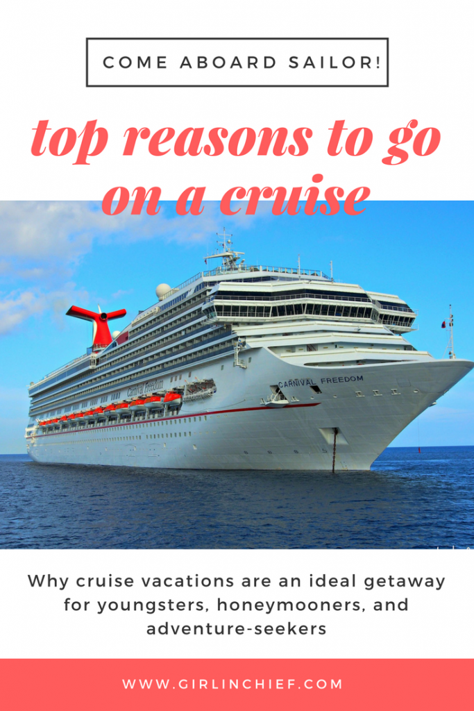 Top Reasons To Go On A Cruise