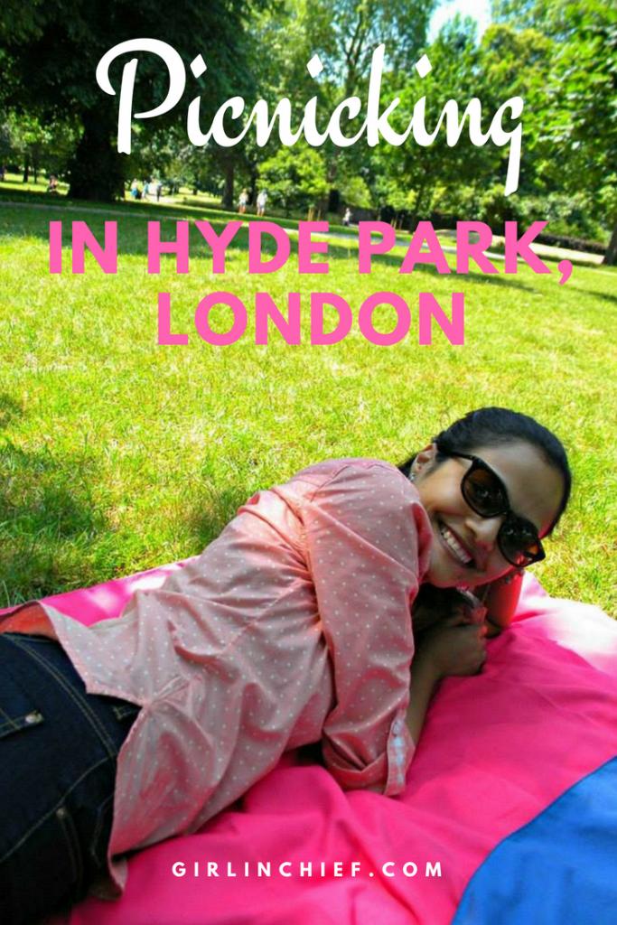 Picnicking in Hyde Park, London #picnic #hydepark #london #summer