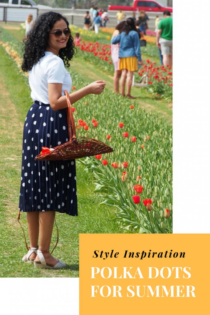 Polka Dots For Summer #style #styleinspiration #summer #summerstyle #springstyle #polkadots #polkadotskirt #whatiamwearing#ootd