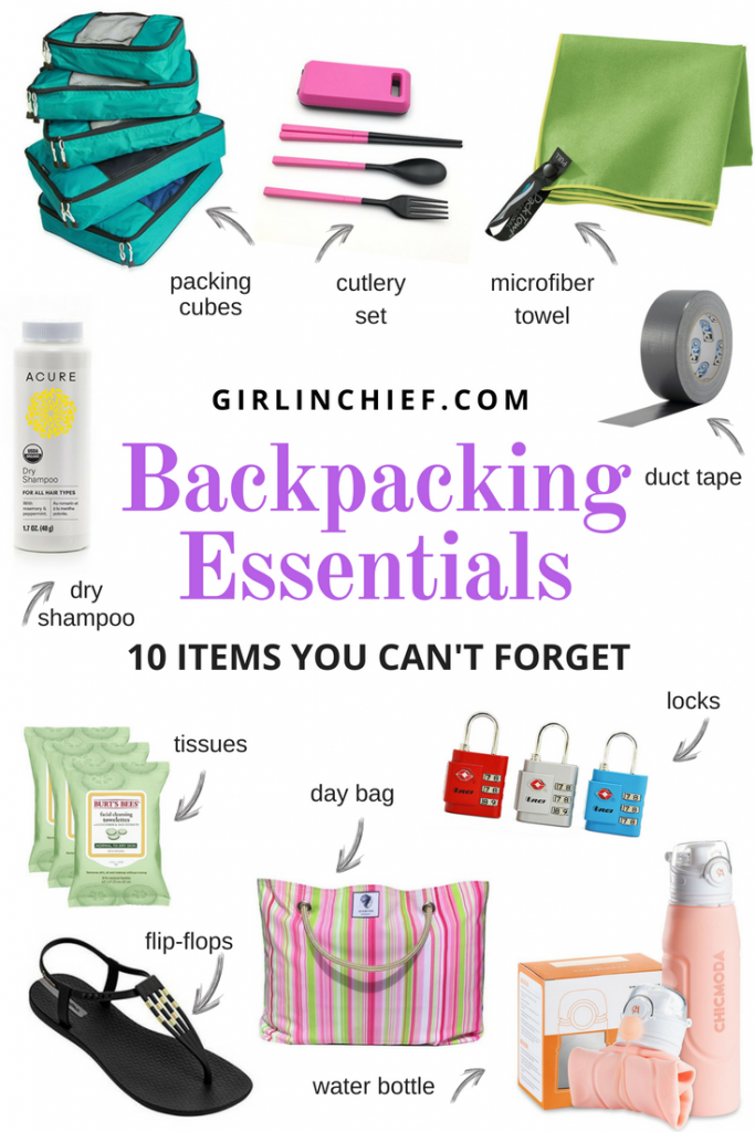 Backpacking Essentials: 10 Items You Can't Forget #travel #backpacking #traveltips #packing #packinglist